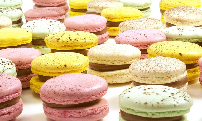 A selection of macarons