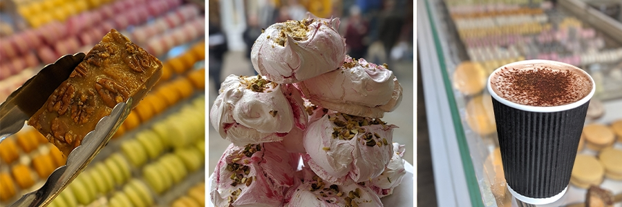 In store treats available from Macarons and More in the Royal Arcade Norwich