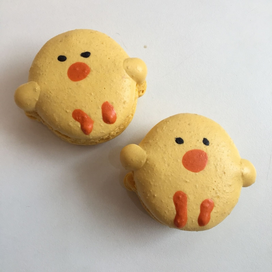 Lemon Flavour Easter Chick Macarons