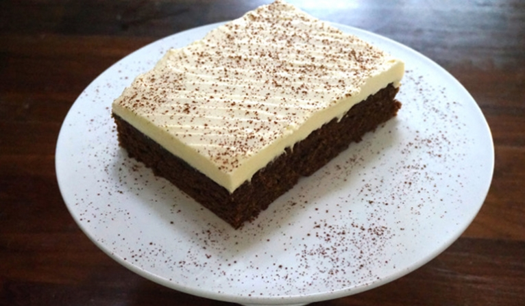 Spiced gingerbread with lemon cream cheese frosting