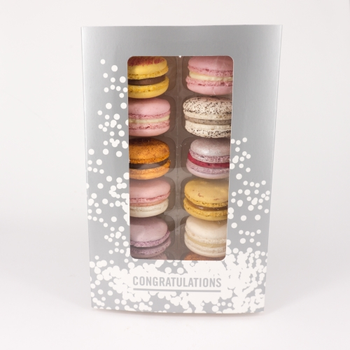 Congratulations! - Box of 12 Macarons