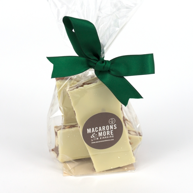 Roasted Almond and White Chocolate Brittle 150g